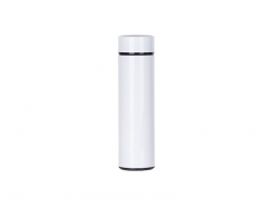 16OZ/450ml Sublimation Smart Stainless Steel Flask w/ Temperature Display (White)