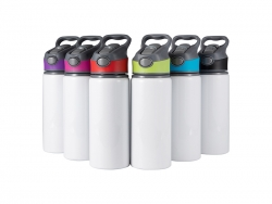 20oz/650ml Sublimation Blanks Alu Water Bottle with Color Cap (White)