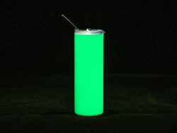 20oz/600ml Sublimation Luminous Stainless Steel Skinny Tumbler (White to Green)