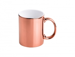 Sublimation 11oz Rose Gold Plated Ceramic Mug