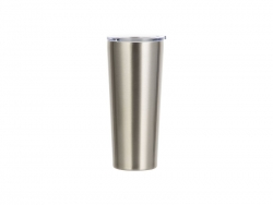 22oz/650ml Stainless Steel Tumbler (Silver)