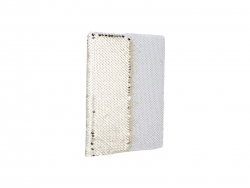 A5 Sequin Notebook (Gold W/ White)