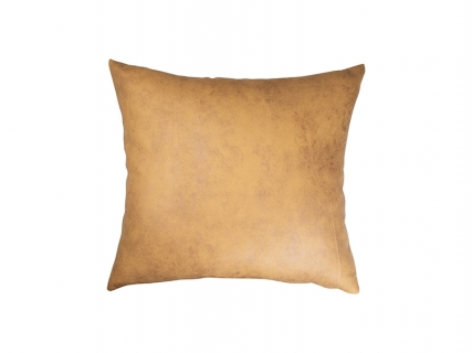 Sublimation Leathaire Pillow Cover (40*40cm, Dark Yellow)