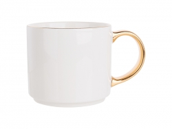 16oz Gold Rim/Handle Ceramic Mug