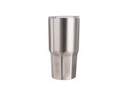 30oz Stainless Steel Tumbler W/ Octagonal Bottom (Silver)