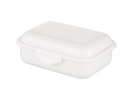 Plastic Lunch Grid Box(White)