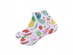 22cm Women Sublimation Socks(Full White) MOQ: 600pairs