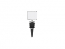 Wine Bottle Stopper (Metal, Square)