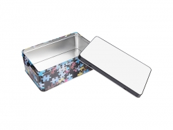 Metal Tin (19.8*12.8*7.2cm, with Puzzle Pattern)