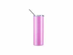 20oz/600ml Sublimation UV Color Changing Stainless Steel Skinny Tumbler (White to Red)