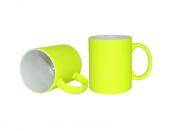 11oz Fluorescent Mug(Frosted, Light Yellow)