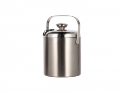 44oz/1300ml Stainless Steel Ice Bucket Set (Silver)