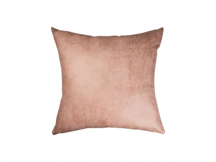 Sublimation Leathaire Pillow Cover (40*40cm, Purple Red)