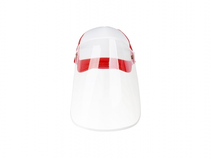Sublimation Adult Mesh Cap w/ Removable Face Shield (Red)