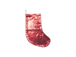 Sequin Christmas Stocking (Red/Silver, 18*53cm)